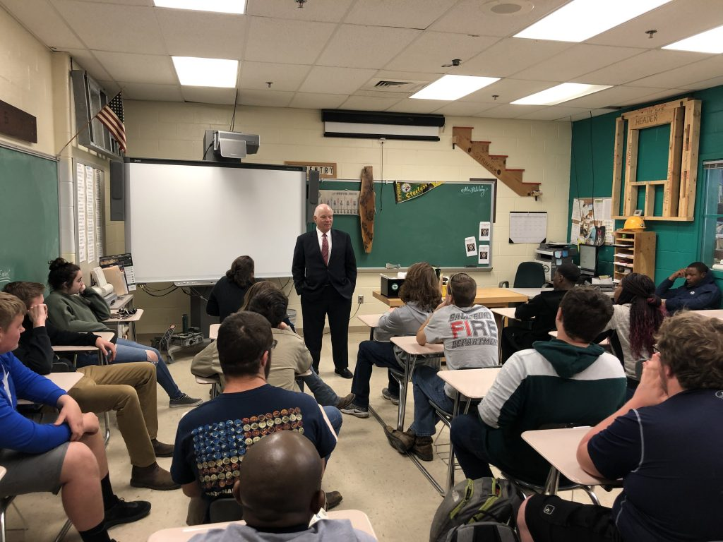 Senator Ben Cardin Visits CTE Program